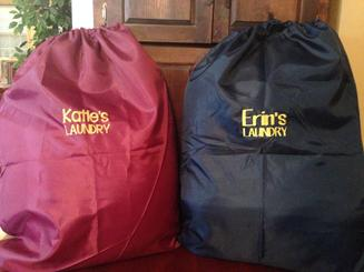 Camp Or College Monogrammed Laundry Sack Embroidered For Free