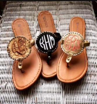 be7ecb302 monogrammed sandals